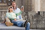 Couple using digital camera Stock Photo - Premium Royalty-Free, Artist: ableimages, Code: 6114-06613059