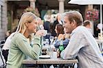 Couple at cafe table Stock Photo - Premium Royalty-Free, Artist: Cultura RM, Code: 6114-06613070