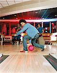 young man bowling Stock Photo - Premium Royalty-Free, Artist: CulturaRM, Code: 6114-06613230