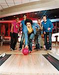 young man bowling Stock Photo - Premium Royalty-Free, Artist: CulturaRM, Code: 6114-06613271