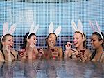 Five women in hot tub Stock Photo - Premium Royalty-Free, Artist: Aurora Photos, Code: 6114-06613418