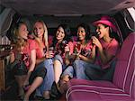 Five women sat in limousine Stock Photo - Premium Royalty-Free, Artist: CulturaRM, Code: 6114-06613421