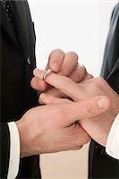 Homosexual couple wedding ceremony Stock Photo - Premium Royalty-Freenull, Code: 6114-06613434