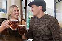 Young couple in pub Stock Photo - Premium Royalty-Freenull, Code: 6114-06613546