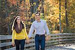 26 year old Hispanic couple amid fall colors Stock Photo - Premium Royalty-Freenull, Code: 6106-06613617