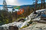 Waterfalls, sunrise, Lake Tahoe, USA Stock Photo - Premium Royalty-Freenull, Code: 6106-06614815