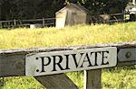 Private Sign on Country Gate Stock Photo - Premium Royalty-Freenull, Code: 6106-06614913
