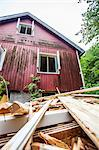 Heap of wood against house Stock Photo - Premium Royalty-Free, Artist: Cultura RM, Code: 698-06615694