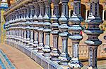 Ceramic decor columns, Plaza de Espana, Seville, Andalusia, Spain, Europe Stock Photo - Premium Rights-Managed, Artist: Robert Harding Images, Code: 841-06616376