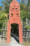 Maori door entrance, Te Puia, Rotorua, North Island, New Zealand, Pacific Stock Photo - Premium Rights-Managed, Artist: Robert Harding Images, Code: 841-06616394