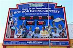 Hot Dog Eating Contest, Wall of Fame, Nathans Famous Hot Dogs, Coney Island, Brooklyn, New York City, United States of America, North America Stock Photo - Premium Rights-Managed, Artist: Robert Harding Images, Code: 841-06616634