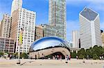 Millennium Park, The Cloud Gate steel sculpture by Anish Kapoor, Chicago, Illinois, United States of America, North America Stock Photo - Premium Rights-Managed, Artist: Robert Harding Images, Code: 841-06616709