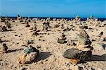 Stone set up on shore, Aruba, ABC Islands, Netherlands Antilles, Caribbean, Central America Stock Photo - Premium Rights-Managed, Artist: Robert Harding Images, Code: 841-06616769