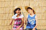 Children With Straw Hats Holding Paper Fans Stock Photo - Premium Rights-Managed, Artist: Aflo Relax, Code: 859-06617399