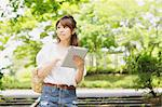 Woman With Tablet Stock Photo - Premium Rights-Managed, Artist: Aflo Relax, Code: 859-06617468
