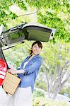 Woman Carrying a Picnic Basket Stock Photo - Premium Rights-Managed, Artist: Aflo Relax, Code: 859-06617477