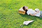 Woman Taking a Nap Stock Photo - Premium Rights-Managed, Artist: Aflo Relax, Code: 859-06617507
