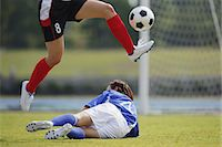 people falling - Women Playing Soccer Stock Photo - Premium Rights-Managednull, Code: 858-06617834