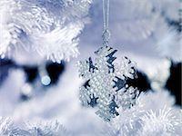 snowflakes  holiday - Silver Snowflake Decoration Stock Photo - Premium Royalty-Freenull, Code: 618-06618219