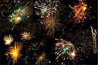 Colorful Fireworks for Kalipuja/Diwali Festival Stock Photo - Premium Royalty-Freenull, Code: 618-06618358