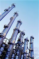 refinery - petrochemical plant at dusk Stock Photo - Premium Royalty-Freenull, Code: 618-06618477