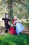 Kids in halloween costumes Stock Photo - Premium Royalty-Freenull, Code: 618-06618573