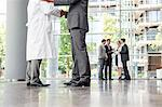 Businessman and doctor shaking hands Stock Photo - Premium Royalty-Free, Artist: Blend Images, Code: 649-06622065