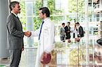Businessman and doctor shaking hands Stock Photo - Premium Royalty-Free, Artist: Blend Images, Code: 649-06622068