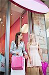 Women shopping together Stock Photo - Premium Royalty-Free, Artist: Aflo Relax, Code: 649-06622188