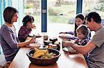 Family having dinner together at table Stock Photo - Premium Royalty-Free, Artist: Minden Pictures, Code: 649-06622410