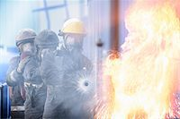 student fighting - Firefighters in simulation training Stock Photo - Premium Royalty-Freenull, Code: 649-06622769