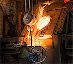 Molten metal pouring in foundry Stock Photo - Premium Royalty-Free, Artist: oliv, Code: 649-06622809