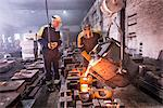 Workers pouring molten metal in foundry Stock Photo - Premium Royalty-Free, Artist: Aflo Sport, Code: 649-06622830