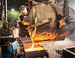 Worker pouring molten metal in foundry Stock Photo - Premium Royalty-Free, Artist: Cultura RM, Code: 649-06622831