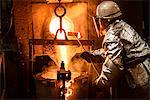 Worker pouring molten metal in foundry Stock Photo - Premium Royalty-Free, Artist: Aflo Relax, Code: 649-06622890
