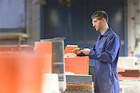 Worker making mould in foundry Stock Photo - Premium Royalty-Freenull, Code: 649-06622896
