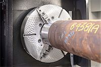 Close up of industrial lathe Stock Photo - Premium Royalty-Freenull, Code: 649-06622908