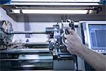 Worker using machinery in factory Stock Photo - Premium Royalty-Free, Artist: Cultura RM, Code: 649-06622926