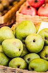 Close up of basket of pears Stock Photo - Premium Royalty-Free, Artist: ableimages, Code: 649-06622980