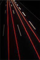 futuristic - Long exposure view of traffic at night Stock Photo - Premium Royalty-Freenull, Code: 649-06623007