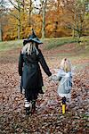 Mother and daughter in costumes Stock Photo - Premium Royalty-Freenull, Code: 649-06623083