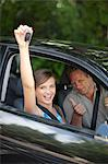 Father giving teenage daughter new car Stock Photo - Premium Royalty-Free, Artist: Damir Frkovic, Code: 614-06623409