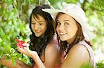 Women admiring flowers in park Stock Photo - Premium Royalty-Free, Artist: AWL Images, Code: 614-06623590