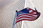 American flag flying by city skyscraper Stock Photo - Premium Royalty-Free, Artist: Ron Fehling, Code: 614-06624664