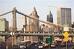 New York City skyline and bridge Stock Photo - Premium Royalty-Free, Artist: AWL Images, Code: 614-06624709