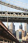 New York City skyline and bridge Stock Photo - Premium Royalty-Free, Artist: Westend61, Code: 614-06624711