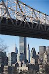 New York City skyline and bridge Stock Photo - Premium Royalty-Free, Artist: Cultura RM, Code: 614-06624726