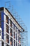 Scaffolding on side of building Stock Photo - Premium Royalty-Free, Artist: ableimages, Code: 614-06624732