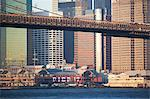 New York City skyscrapers and bridge Stock Photo - Premium Royalty-Free, Artist: Albert Normandin, Code: 614-06624769