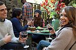Couple having wine together outdoors Stock Photo - Premium Royalty-Free, Artist: Jodi Pudge, Code: 614-06625080